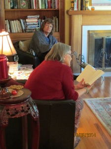 Glenda reading, Ruth Listening